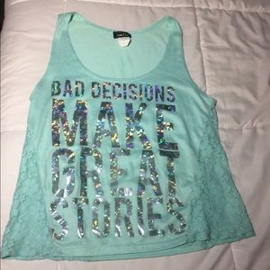 Woman's Turquoise Tank Top
